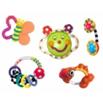 Sassy Baby's First Rattle and Teether 5 Piece Set is the second best teether